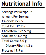 Cauliflower Pizza Nutritional Info