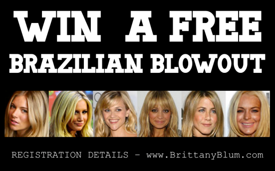 Win a Free Brazilian Blowout by just following this NEW blog!