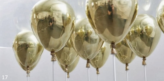 Gold and Clear Balloons - Elegant