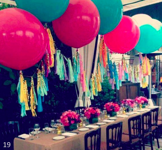 Balloon trends make your party pop brittany blum for How to make balloon arrangements for parties