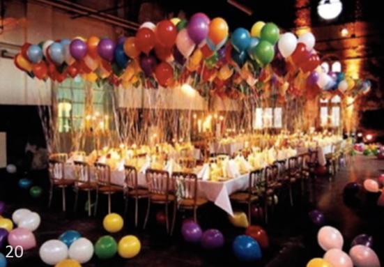 Trendy & Classy Balloon Table Decor