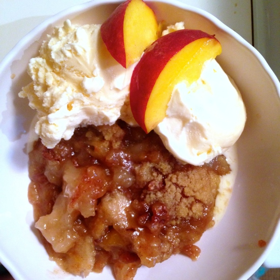 Pecan Peach Cobbler - Adapted from Paula Dean - delicious