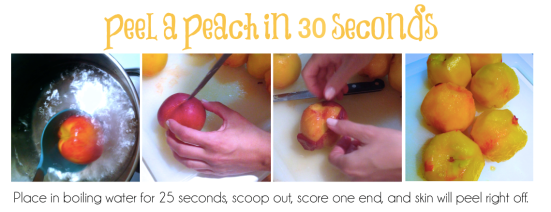 Peel a peach in 30 seconds - Peach Cobbler