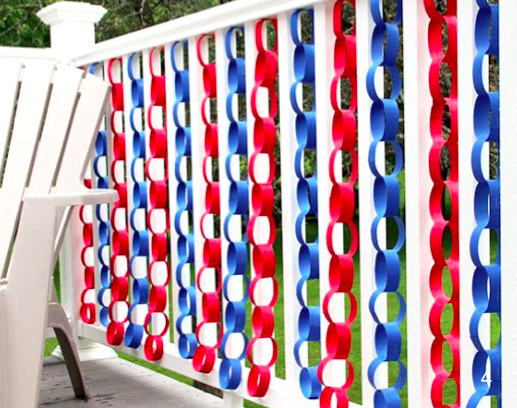 Greet guests with a festive swag made of flags