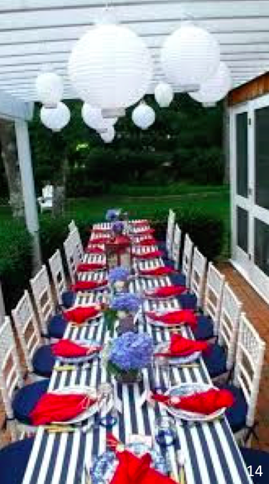 Pretty Table - Let Freedom Ring - Fab 4th of July Decor ideas.