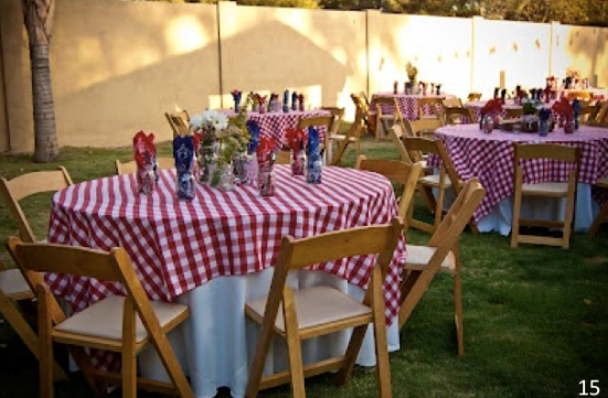 Gingham Tables - Let Freedom Ring - Fab 4th of July Decor ideas.